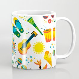 Colorful Brazilian Beach Tropical Carnaval Coffee Mug