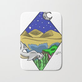 From the night sky to the ocean floor Bath Mat