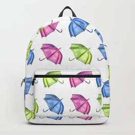Colorful Umbrella Pattern Backpack