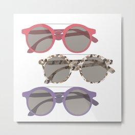 Three Sunglasses Warm Metal Print