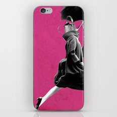 Watering can under umbrella iPhone & iPod Skin