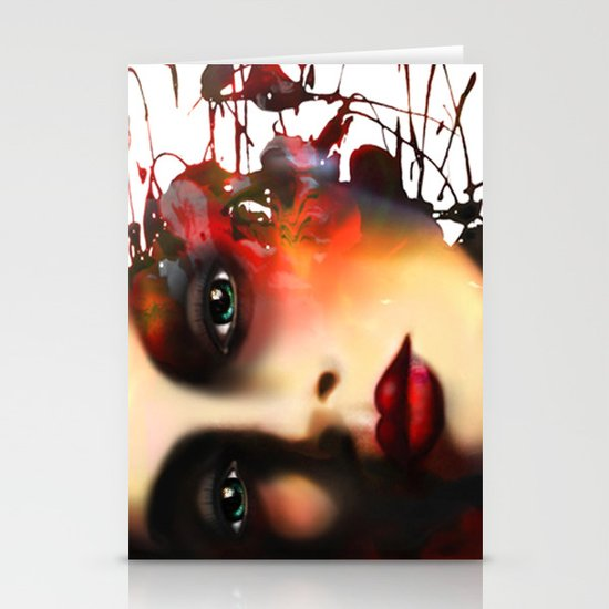 Woman Face 95 Stationery Cards