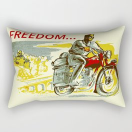 Retro vintage style FREEDOM motorcycle Rectangular Pillow