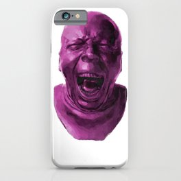 CHARACTER HEAD NO. 5 (yawning) iPhone Case