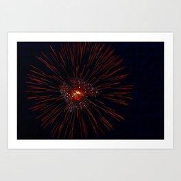 Marina Fireworks 2018 view 2 Art Print