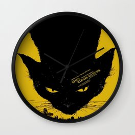 Vintage poster - Black Cat Wall Clock