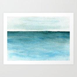Calm sea 1985 Art Print