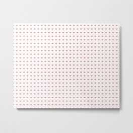 Pink Hearts Pattern Big Little Metal Print