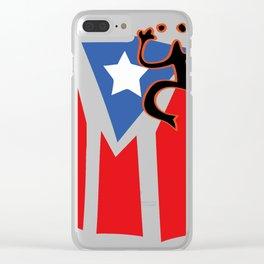 Mi bandera, Puerto Rico Clear iPhone Case