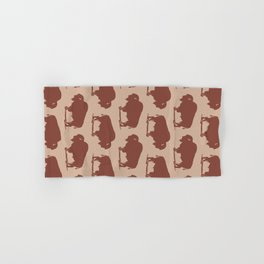Buffalo Bison Pattern Brown and Beige Hand & Bath Towel