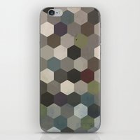 hexagon iPhone & iPod Skins featuring Hexagon  by Kitty Emsley