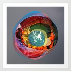 the abstract dream 18 Art Print