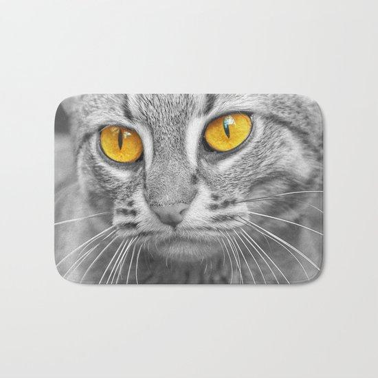 RUSTY SPOTTED CAT Bath Mat