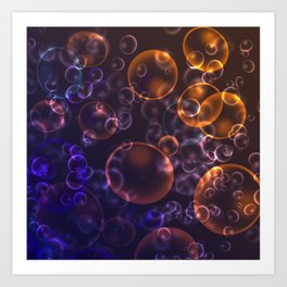 Mirages. Blurred background Lenses, bubbles Art Print