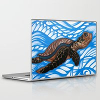 turtle Laptop & iPad Skins featuring Turtle by Lonica Photography & Poly Designs