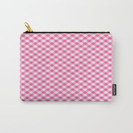 Pink Roses in Anzures 1 Gingham 1 Carry-All Pouch