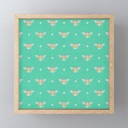Bumblebee Stamp on Seafoam Framed Mini Art Print