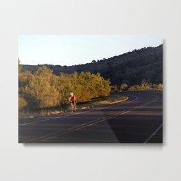 Early Morning Bike Ride Metal Print