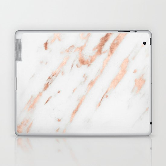 Pink Quartz Marble Rose Gold White Laptop Amp Ipad Skin By