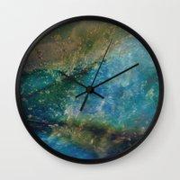 batik Wall Clocks featuring Oceana Batik by GypsyBohemian