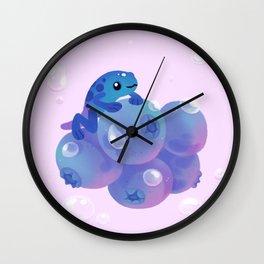 Blueberry poison yogurt 1 Wall Clock