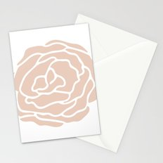 Rose in Vintage Rose Pink on White Stationery Cards