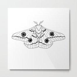 Emperor Moth Metal Print