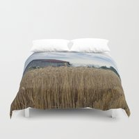 ohio Duvet Covers featuring Ohio barn by steve wall