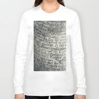 writing Long Sleeve T-shirts featuring ancient writing by Falko Follert Art-FF77