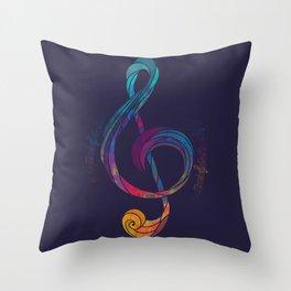 Treble Color Throw Pillow