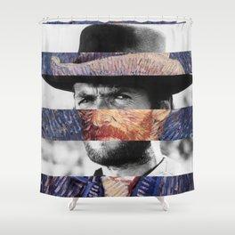 Van Gogh's Self Portrait & Clint Eastwood Shower Curtain