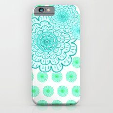 seafoam & blueeeey iPhone 6 Slim Case