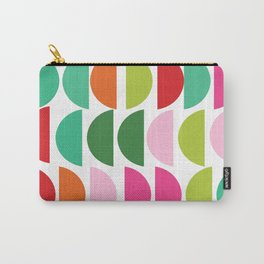 Festive Holiday Colors Geometric Pattern Carry-All Pouch