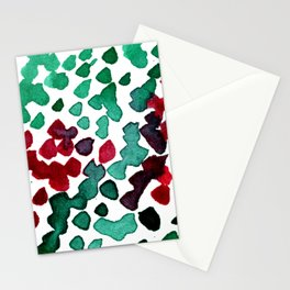 trickle no3...two hearts on grass Stationery Cards