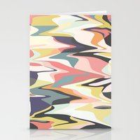 deco Stationery Cards featuring Deco Marble by Beth Thompson
