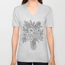 Floral Bouqet Art Print Unisex V-Neck