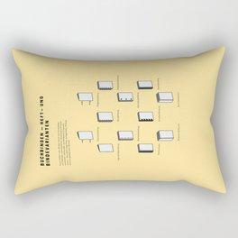 Buchbinden – Heft- und Bindevarianten Rectangular Pillow