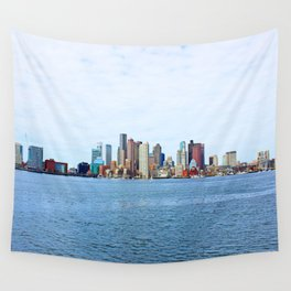 City of Boston Whole view  Wall Tapestry