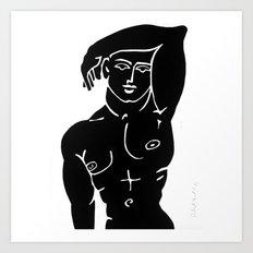 MALE ADONIS BODY NUDE MODEL POSTER PRINT PAINTING ART Art Print