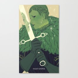 Page of Swords Canvas Print