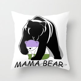 Mama Bear Genderqueer Throw Pillow