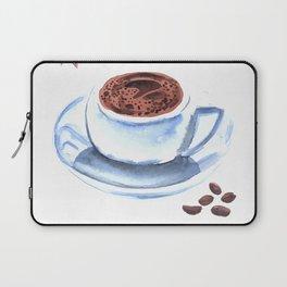 Americano Café Watercolor Laptop Sleeve