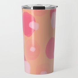 Pink 'n Peach Dot Travel Mug