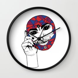 The Mask You Live In Wall Clock