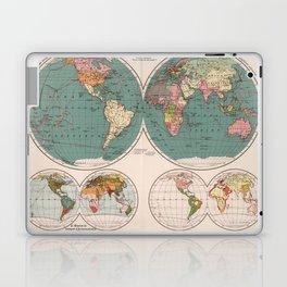Vintage Map of The World (1921) Laptop & iPad Skin
