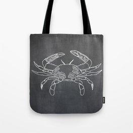 Crab Butcher Diagram (Seafood Meat Chart) Tote Bag
