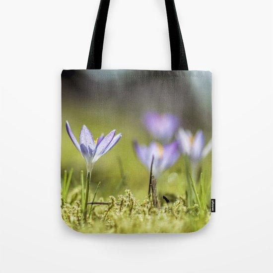 Crocus meadow Tote Bag