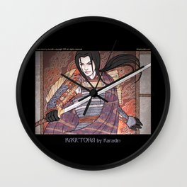 Kagetora (Dragon Lord of Echigo) Wall Clock