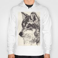 wolves Hoodies featuring Wolves by Maria Gabriela Arevalo Reggeti