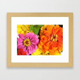 Farmer's Market Flowers Framed Art Print